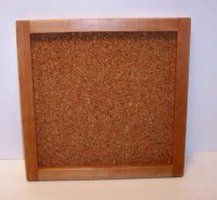 Hanging Cork Board In A Cherry Hardwood Frame by tomroche