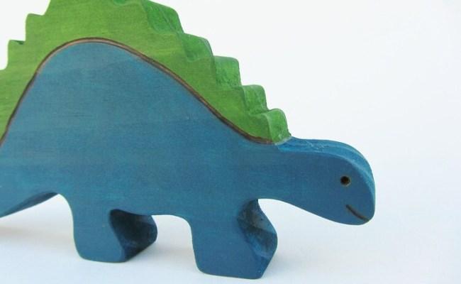 Wooden Stegosaurus Toy Wood Waldorf Dinosaur By