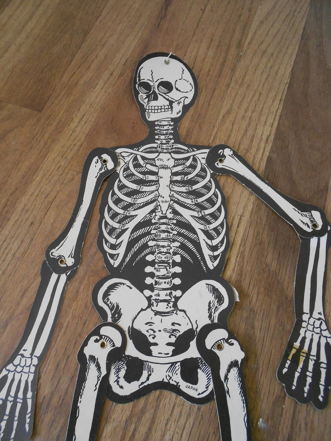 Vintage Skeleton Halloween Decoration by theamericanhomemaker