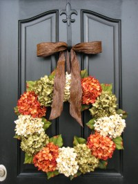 Fall Hydrangea Wreaths Front Door Wreaths Wreaths for Front