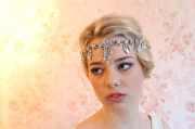 hair accessory 1920s bridal headpiece