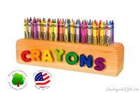 Wooden Crayon Holder Personalized Name Wooden Crayon Holder