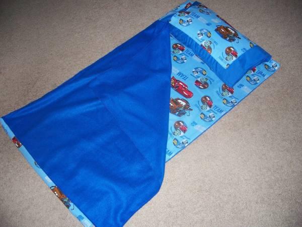 Car' Movie Kindergarten Nap Mat Cover Pillow