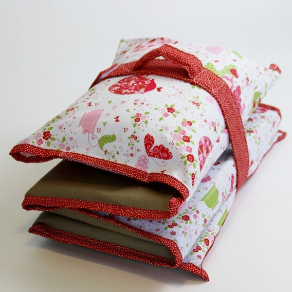 Pick Print Nap Mat Cover With Pillowcase Handle And Strap