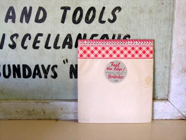 Vintage Royledge Shelf Paper Red Gingham Lace Border