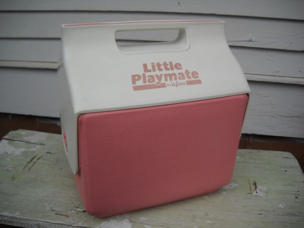 Vintage Little Playmate Igloo Cooler Side Button