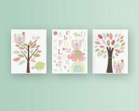 Girl Nursery Dcor Girl Nursery Art Baby Girl Nursery Wall