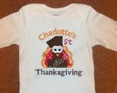 1st Thanksgiving Personalized Long Sleeve Shirt - FlutterbyeChic