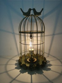Anthropologie inspired bird cage table lamp