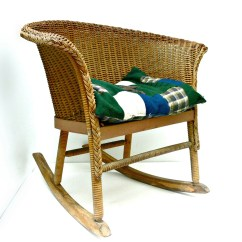 Kids Rocking Chair Cover Hire Lincolnshire Child 39s Vintage Wicker Rocker Rustic