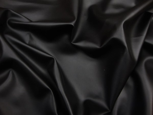 Vinyl Faux Leather Black Soft Skin Clothing Upholstery Pvc