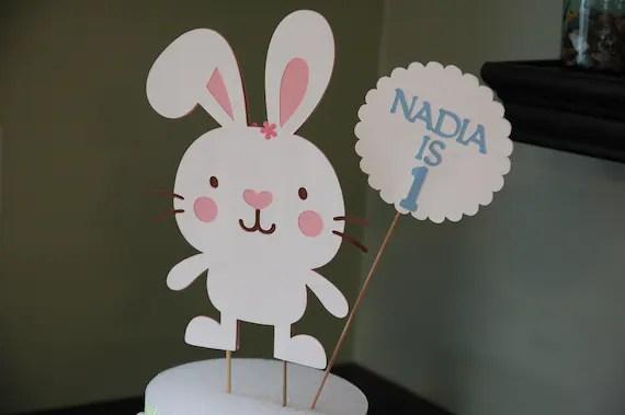 Bunny Cake Topper Bunny Smash Cake Bunny Birthday Party