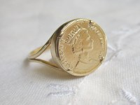 Gold coin Ring Coin ring Vintage ring Signet ring