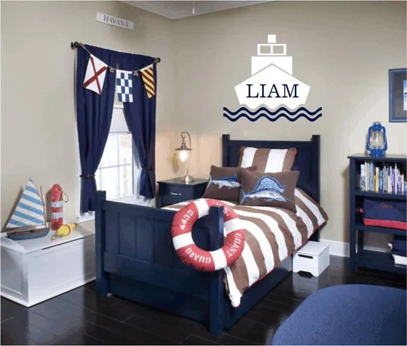 Items similar to Nautical Vinyl Wall Decal Personalized