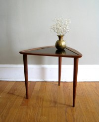 Free Shipping Mid Century Triangle Table Wood and Laminate
