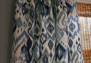 Ikat Curtain Panels Blue