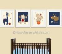 Baby Boy Nursery boy nursery art Decor Sports Nursery Wall Art