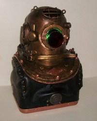 Items similar to Steampunk vintage Diving Helmet Lamp on Etsy