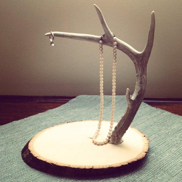 Deer Antler Jewelry Stand