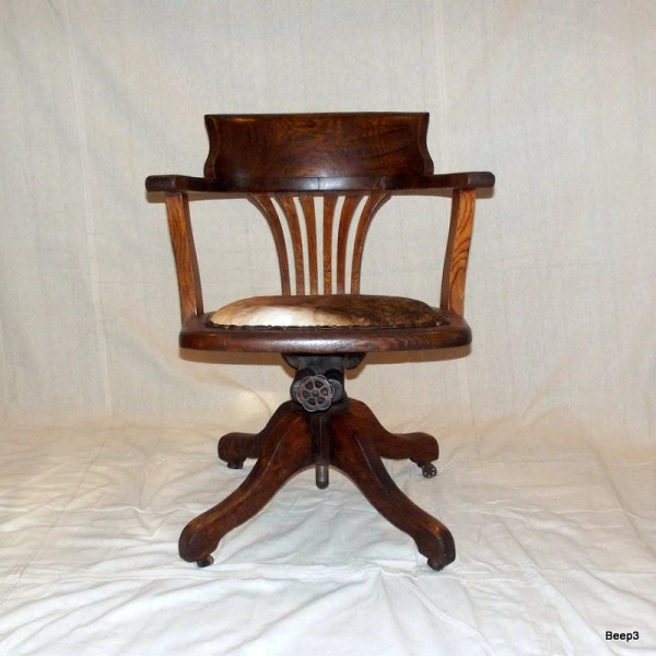 antique office chair Antique Upcycled Wooden Bankers Office Chair End of Summer
