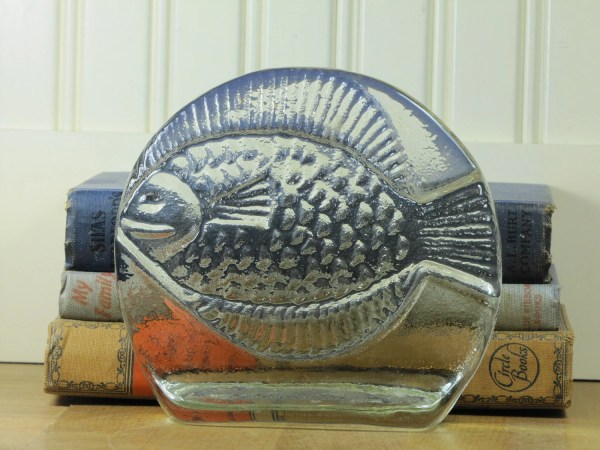 Blenko Fish Bookend Glass