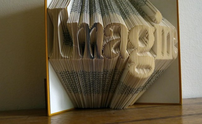 Folded Book Art Sculpture Anniversary Gifts By Lucianafrigerio