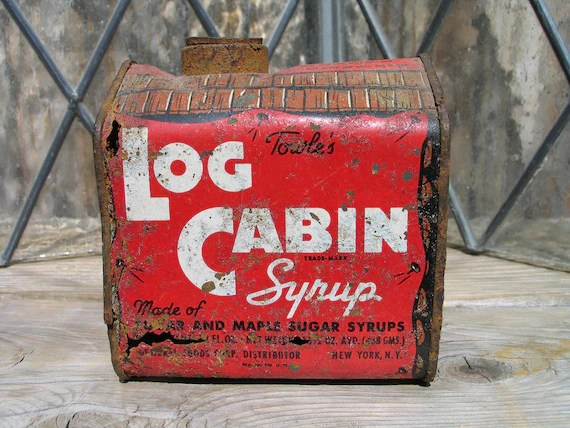Vintage Towles Log Cabin Syrup Tin General Foods Corp