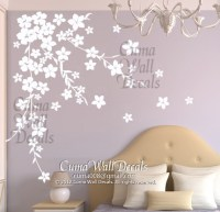 white cherry blossom wall decals flower vinyl wall decals ...