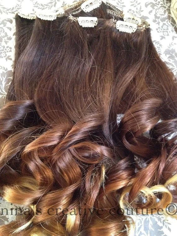Items Similar To Ombre Hair ExtensionsReverse Ombre Dark