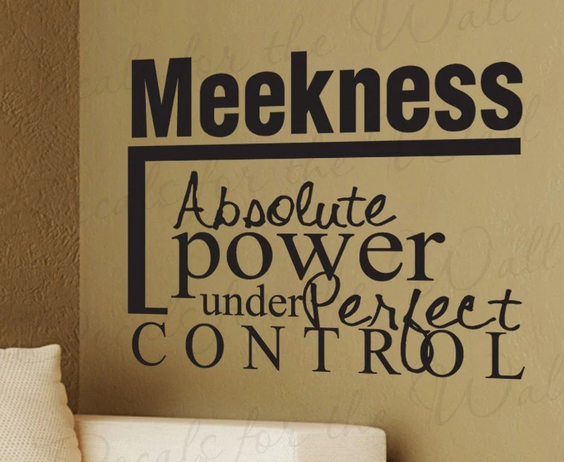 <b>Meekness</b> Absolute Power Under Perfect Control Inspirational Home ...