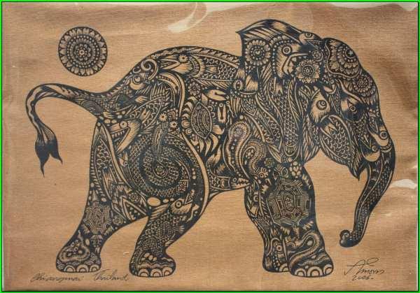 Thai Elephant Tattoo Designs