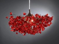 Romantic Chandeliers with Red roses flowers for living room