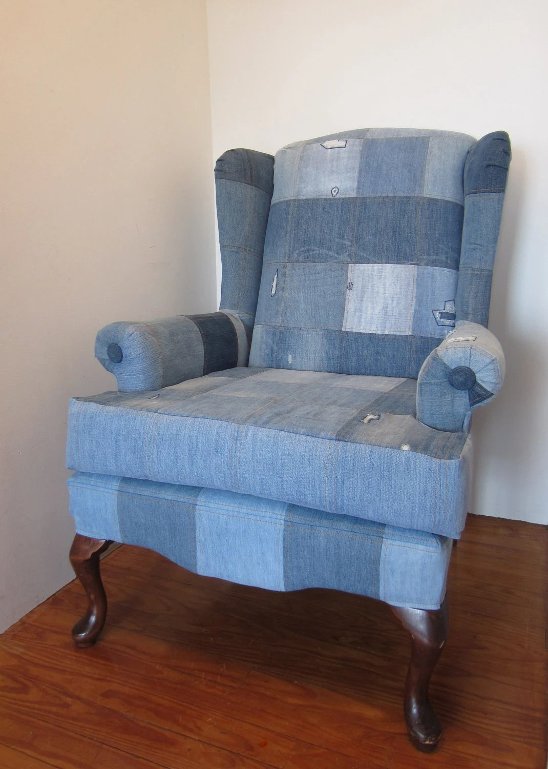 Denim Chairs Etsy Your Place To Buy And Sell All Things Handmade