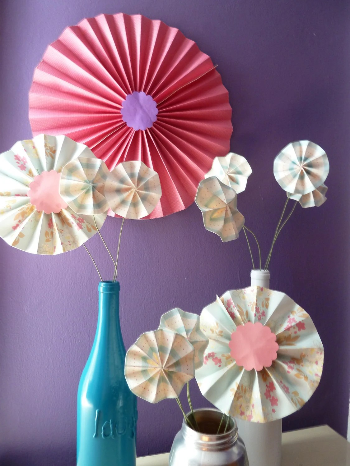 Items Similar To Accordion Origami Paper Flower