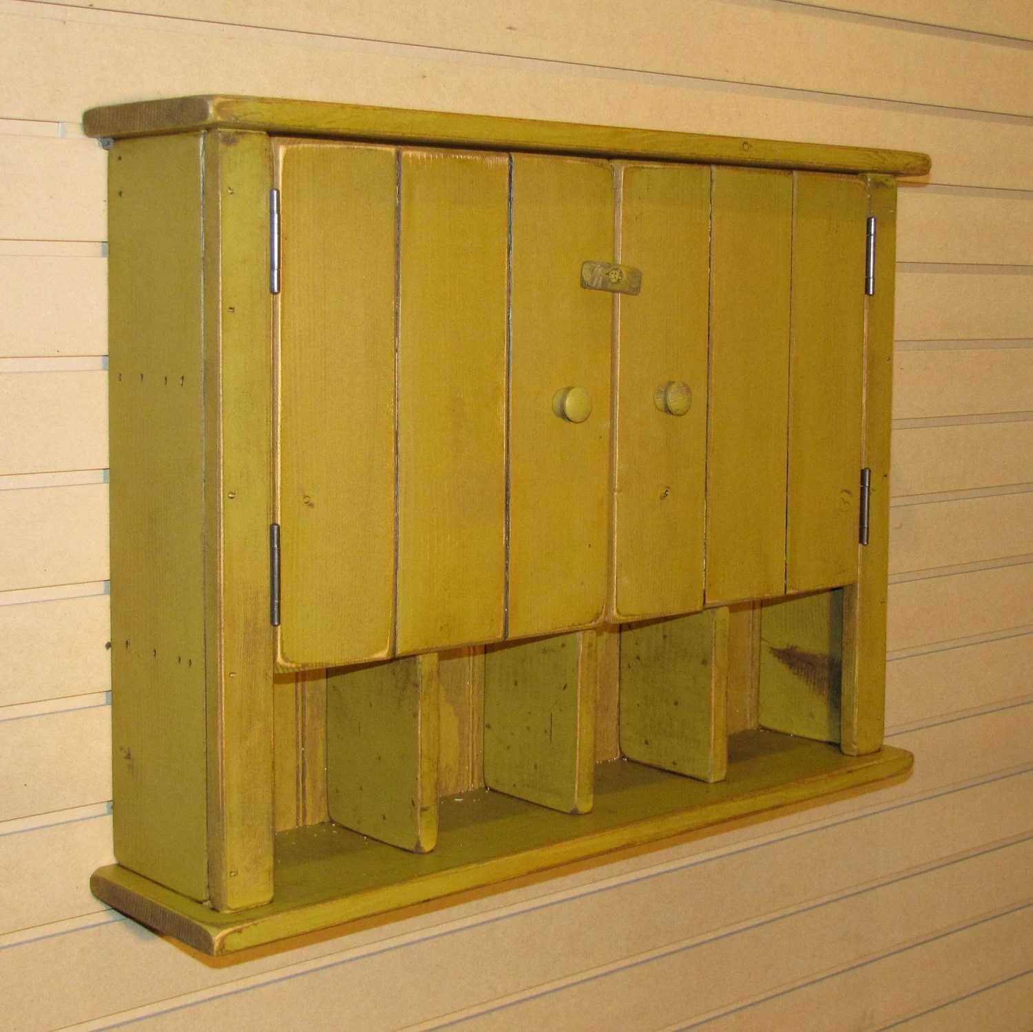 Rustic Bathroom Wall Cabinets Rustic Primitive Cottage Wall Cabinet Color Choice