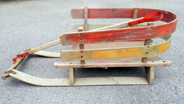 Vintage Wooden Baby Sleds