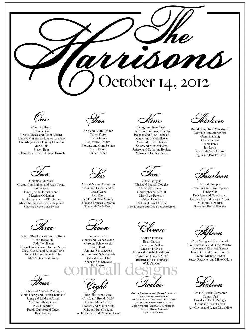 Wedding Seating Chart Reception Seating by CharmingPaperShop