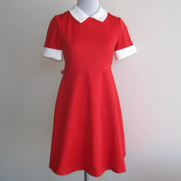 Vintage Girls Red & White Little Orphan Annie Costume Dress