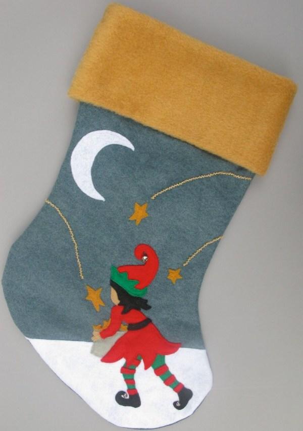 Felt Christmas Stocking Girl Boyletters