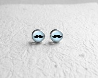 Hipster Jewelry Mustache Earrings Fun Gift Small by ...