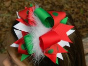girls hair bows christmas