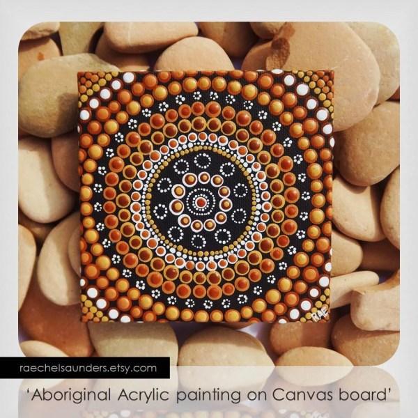 Australian Aboriginal Art Dot Acrylic Paint Canvas