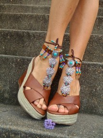 Reserved Native Leather Barefoot Sandals Sole Pow