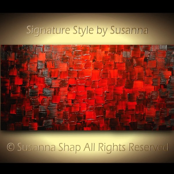 Red Abstract Art Painting