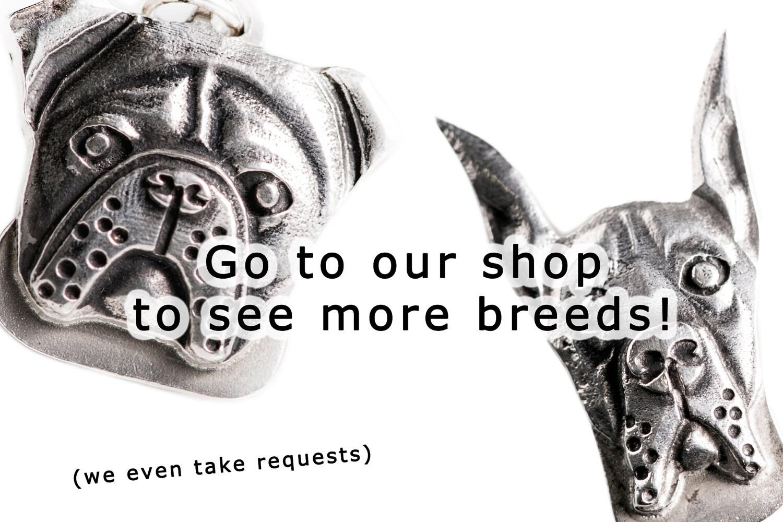 Doberman Pinscher Necklace Jewelry Sterling Silver Dog Pendant