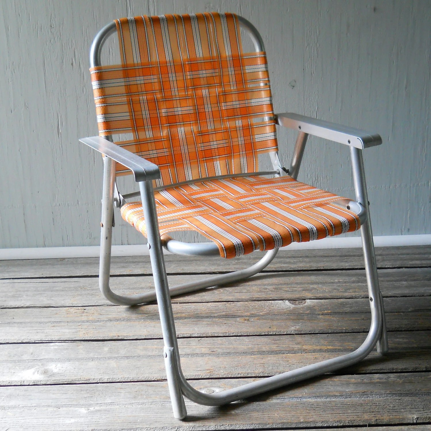 Vintage Folding Lawn Chair Childs Aluminum by