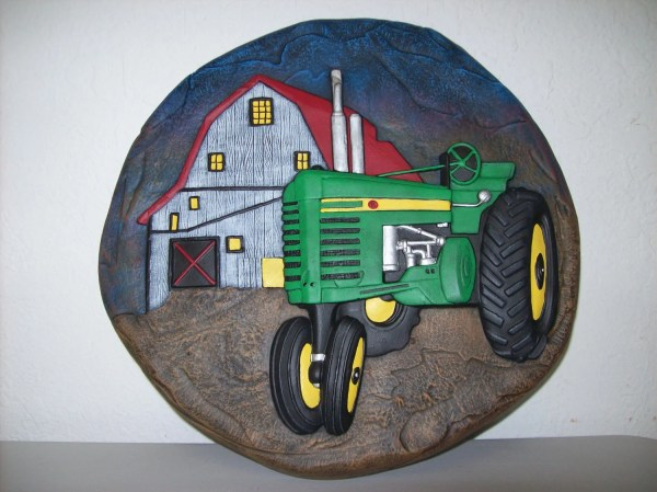 hand painted ceramic john deere