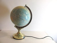 Vintage Light Up World Globe Touch Lamp