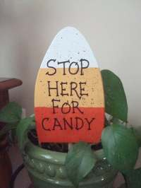 Items similar to Wooden Candy Corn - Halloween Decoration ...
