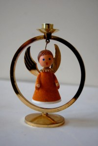 Vintage Christmas Angel Candle Holder Made in by ...